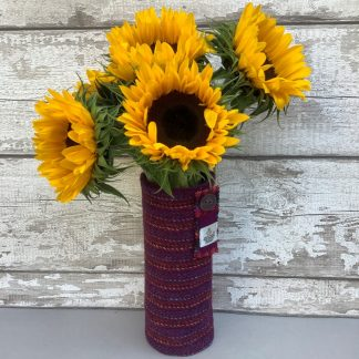 Harris Tweed Fabric Vase