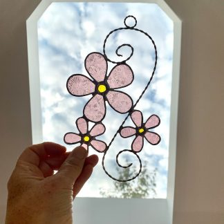 Stained Glass Cherry Blossom Suncatcher