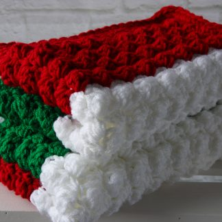 Red White Green Baby Blanket