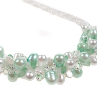 Complete Kit - Kumihimo 7 Strand Mint Ice Necklace