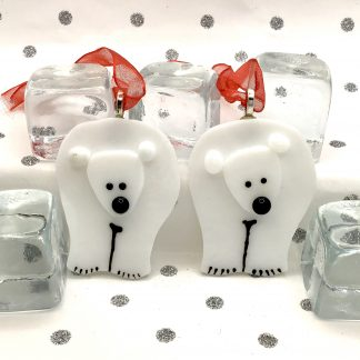 Fused Glass Polar Bear