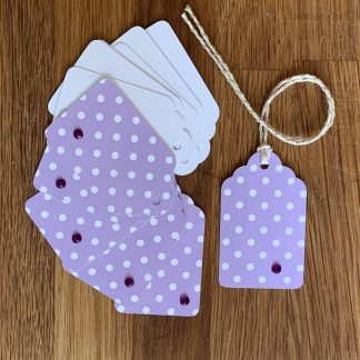 Polka Dot Gift Tags set of 12 purple