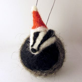 Badger christmas bauble