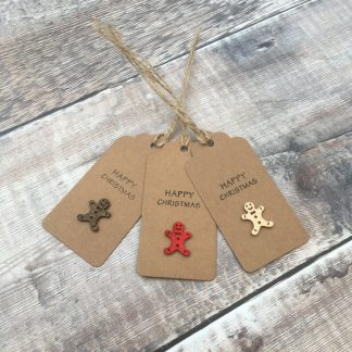 Crofts Crafts gingerbread men Christmas gift tags