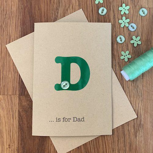 green acetate initial card A6