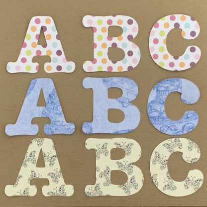 initial notecards abc 3 paper colours