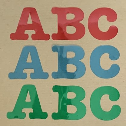 initial notecards abc acetate colours