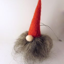Red Tomten Gnome christmas bauble