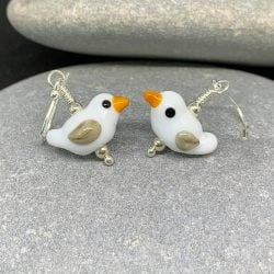seagull earrings