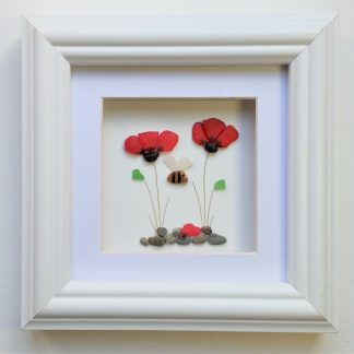 poppy and bee wall art