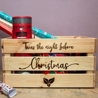 christmas eve wooden box
