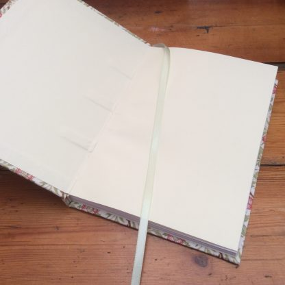 Notebook with ribbon marker