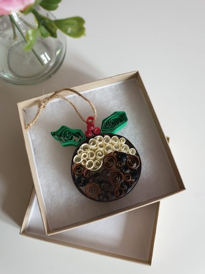 with a quill and a stitch Christmas pudding