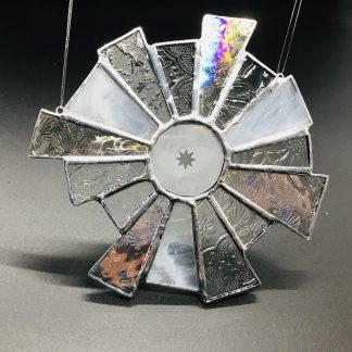 Starburst Stained Glass Suncatcher