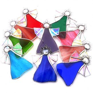 Angel decoration stained glass suncatcher