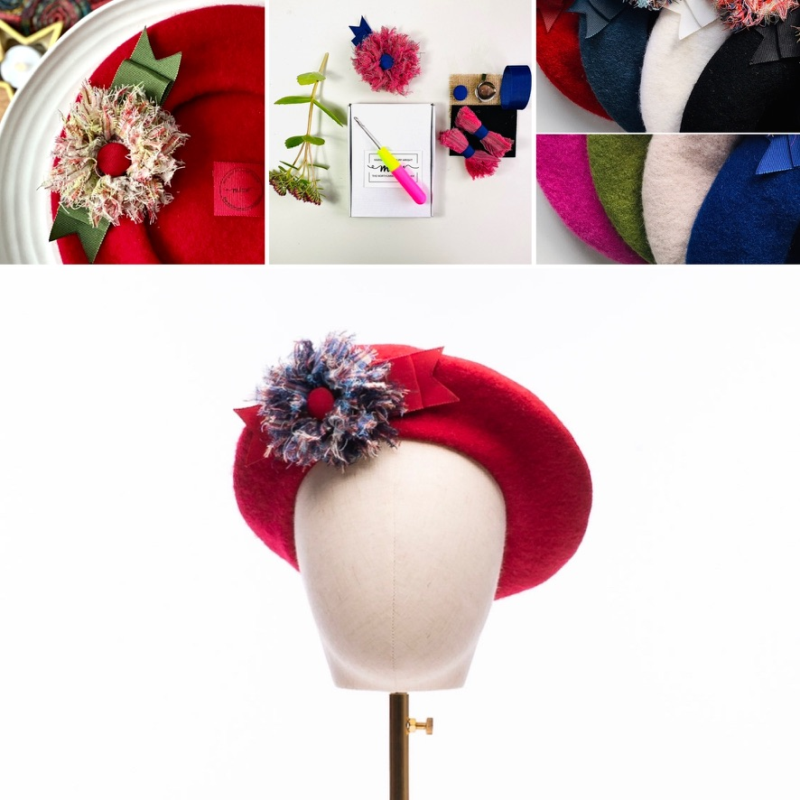 Beret and tartan flower collection
