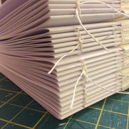 Hand sewn book blocks