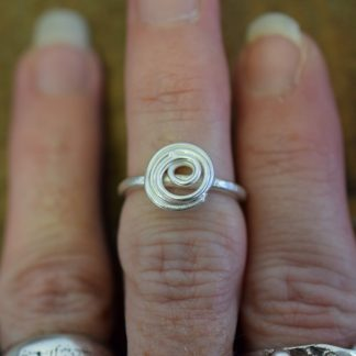handcrafted silver spiral ring by All That Glitters