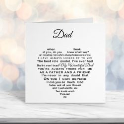 Dad Christmas Birthday Fathers Day Card