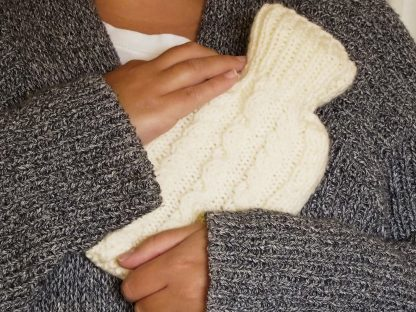 mini hot water bottle and cover