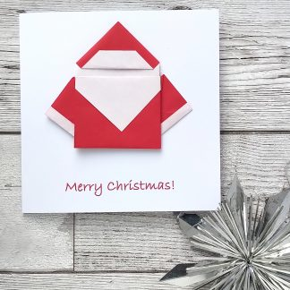 Origami father christmas card