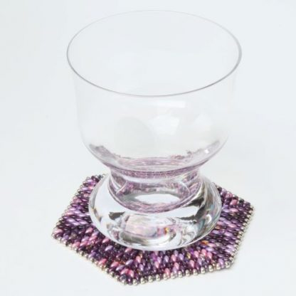 Hexagonal Beaded Coasters