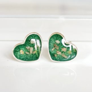 Heart Memorial Ashes Earrings