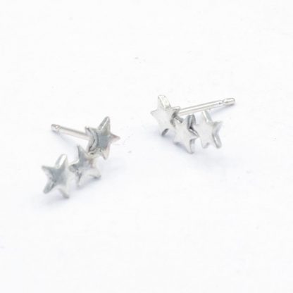 three star climber earrings