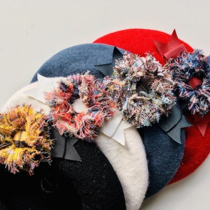 Berets with Lochcarron tartan flowers selection 1