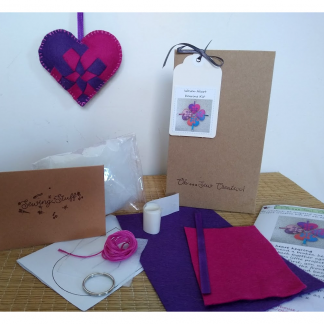 Woven heart keyring craft kit