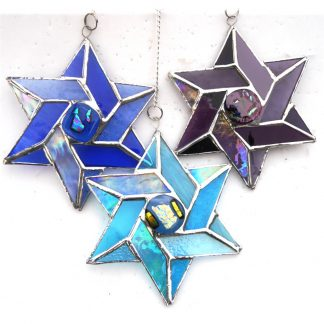 Star of David Megan suncatcher stained glassa