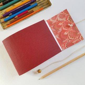 Red Feather Marble Sketchbook, A6, Mallory Journals
