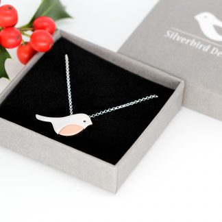 Robin necklace silver jewellery Silverbird Designs