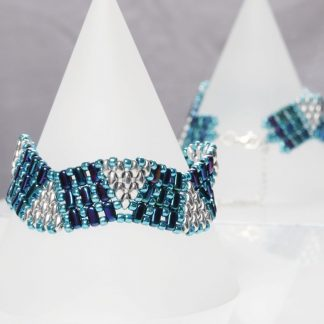 Blue, Turquoise and Silver Bracelet
