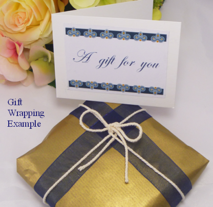Gift wrapping example MollyG Designs