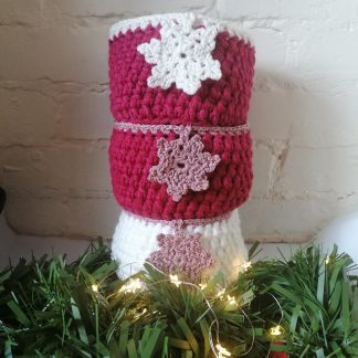 crocheted christmas baskets