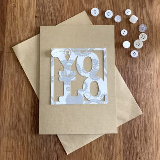 A6 card letters in a square yolo
