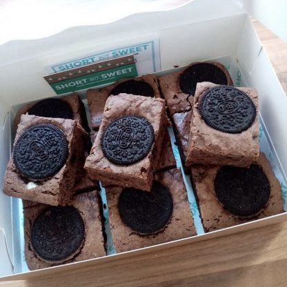 Box of Vegan Oreo Brownies