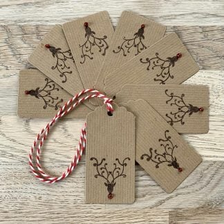 rudolph gift tags set of 8