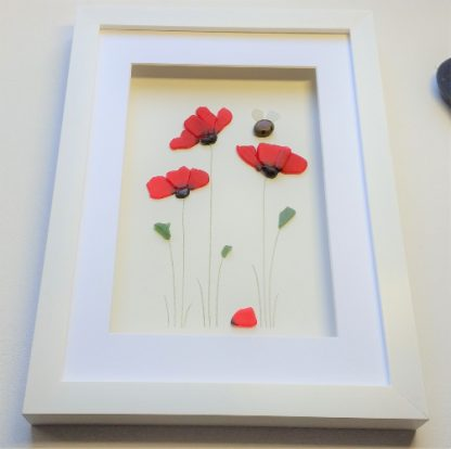 sea glass poppies