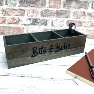 wooden bits and bobs storage box