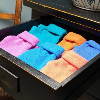 Drawer of cashmere gloves