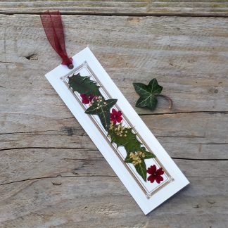 Holly and Ivy Bookmark