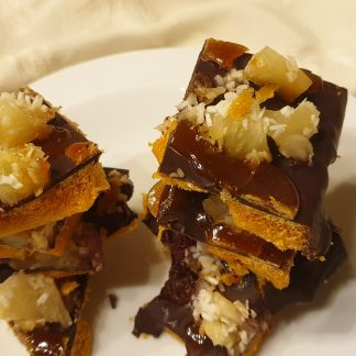 Spiced Rum, Toffee, Pineapple, Coconut Chocolate Honeycomb