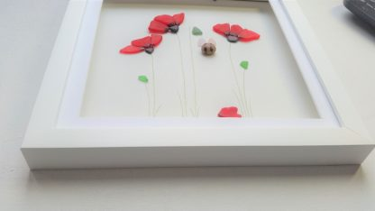 sea glass poppy and bee