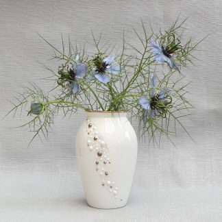 Pretty white china vase