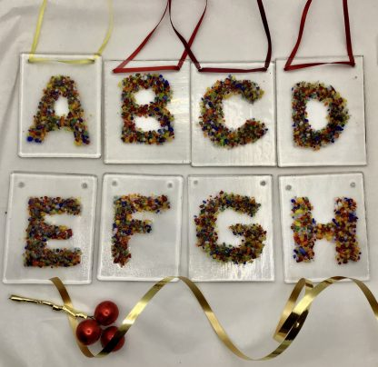 Fused Glass Alphabet letters