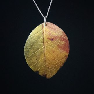 Autumn Beech leaf necklace by Photofinish Jewellery