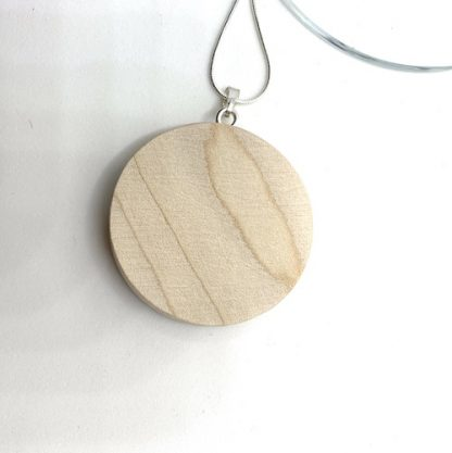 all sparkle wood necklace