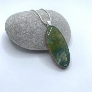 oval sage necklace